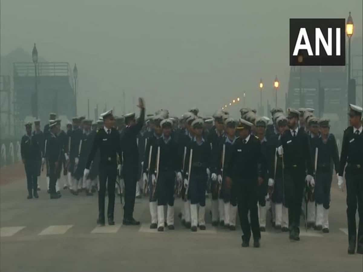 Rehearsal for R-Day parade in full swing at Rajpath