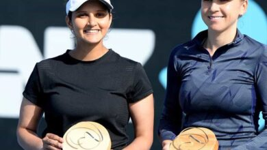 Photo of Baby on board: Sania Mirza embarks on first Slam bid as a mum