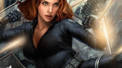 Photo of Scarlett's new look in and as 'Black Widow' revealed