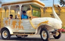 Hyderabadi automobile  designer Sudhakar makes Swan car