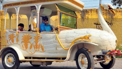 Photo of Hyderabadi automobile  designer Sudhakar makes Swan car