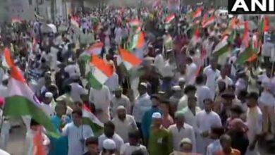 Photo of Hyderabad: Thousands gather for Tiranga rally