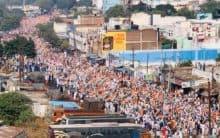 Crowd building up for Tiranga Rally