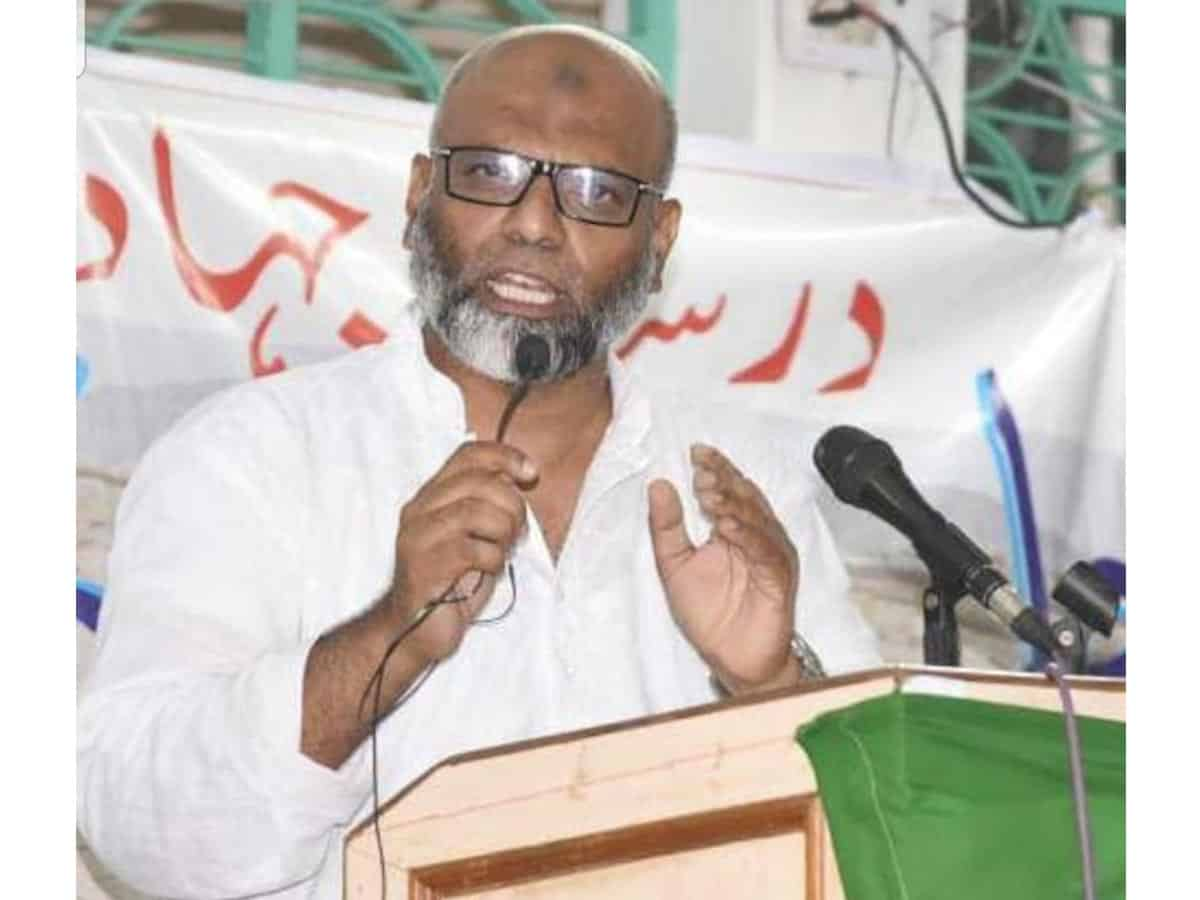 Shaikh Saifullah Khalid, secretary Darsgah-E-Jihad-O-Shahadat (DJS)