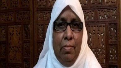 Photo of Khalida Parveen anti-CAA activist under police surveillance