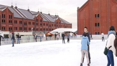 Photo of Japan's Yokohama city attracts tourists for winter sports