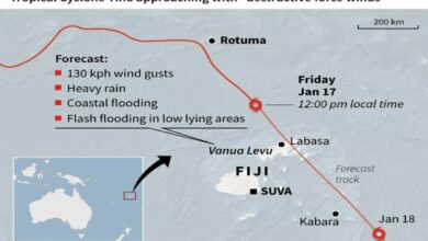 Photo of Fiji cyclone leaves two missing, 119 in emergency shelter