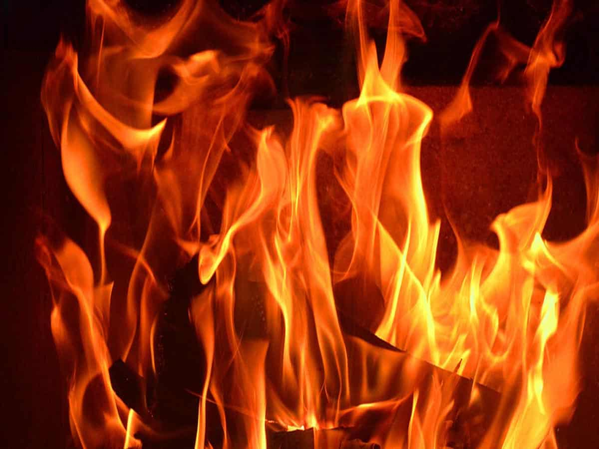14 cars gutted in fire in Delhi