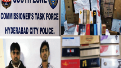 Photo of Hyderabad: Two held for illegal supply of cigarettes