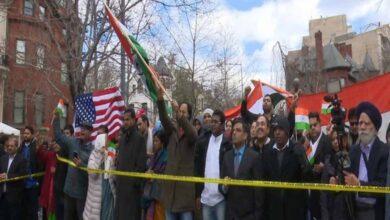 Photo of Republic Day celebrated outside embassy in Washington