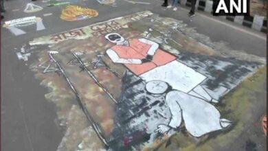 Photo of Jamia Square: Graffiti, painting- students fighting back