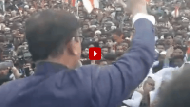 Photo of Million March in Hyderabad: Amjed Ullah Khan addresses gathering