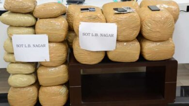 Photo of Four drug peddlers nabbed with 108 kg marijuana in Hyderabad