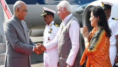 Photo of President reaches Kochi, received by Kerala Governor