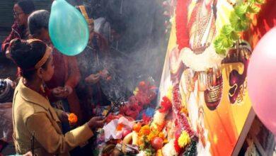 Photo of Saraswati Puja performed in Nepal schools on Basant