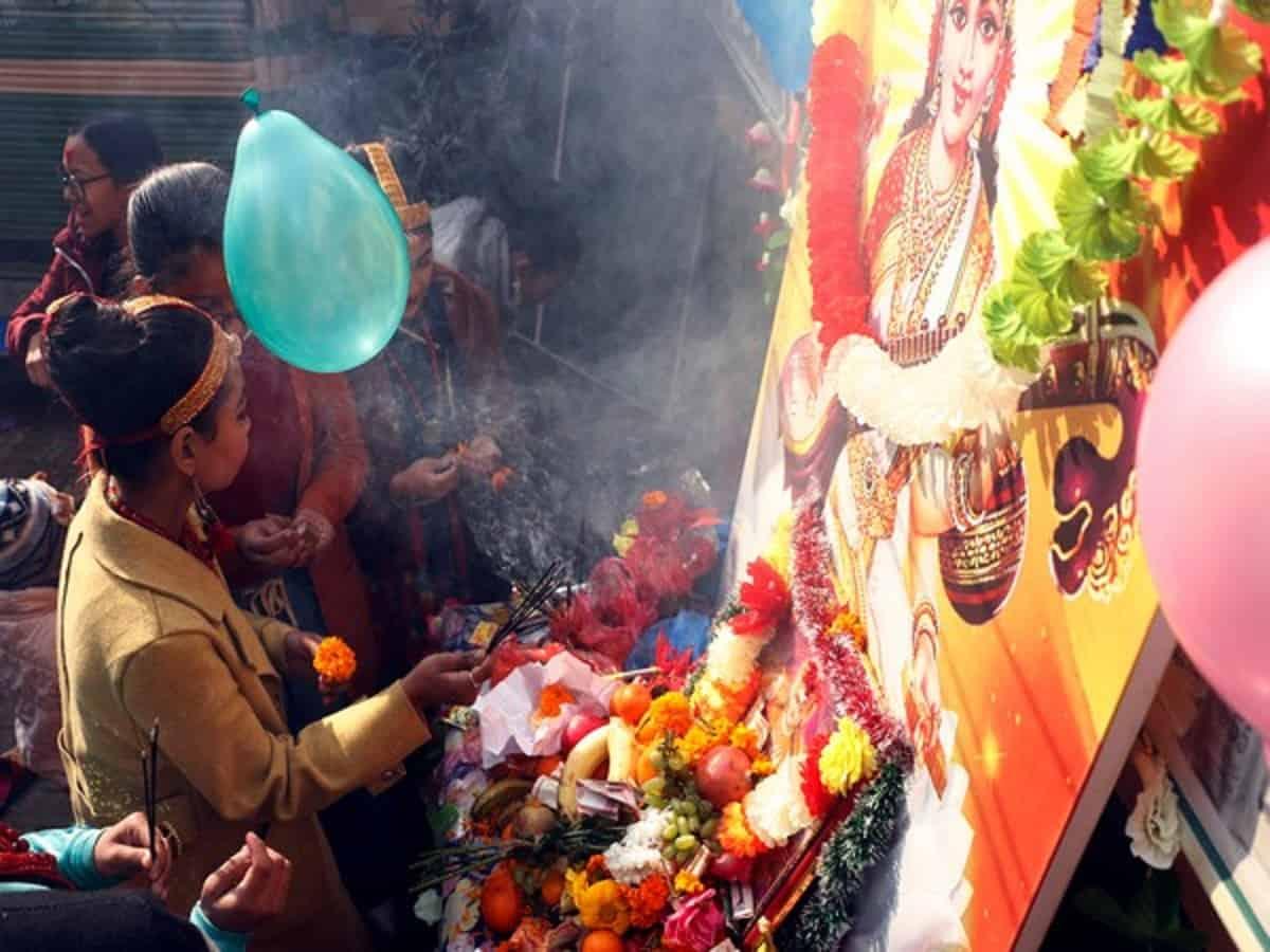 Saraswati Puja in Nepal