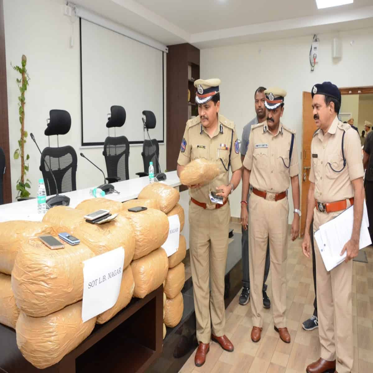 Ganja smuggling racket busted in Hyderabad