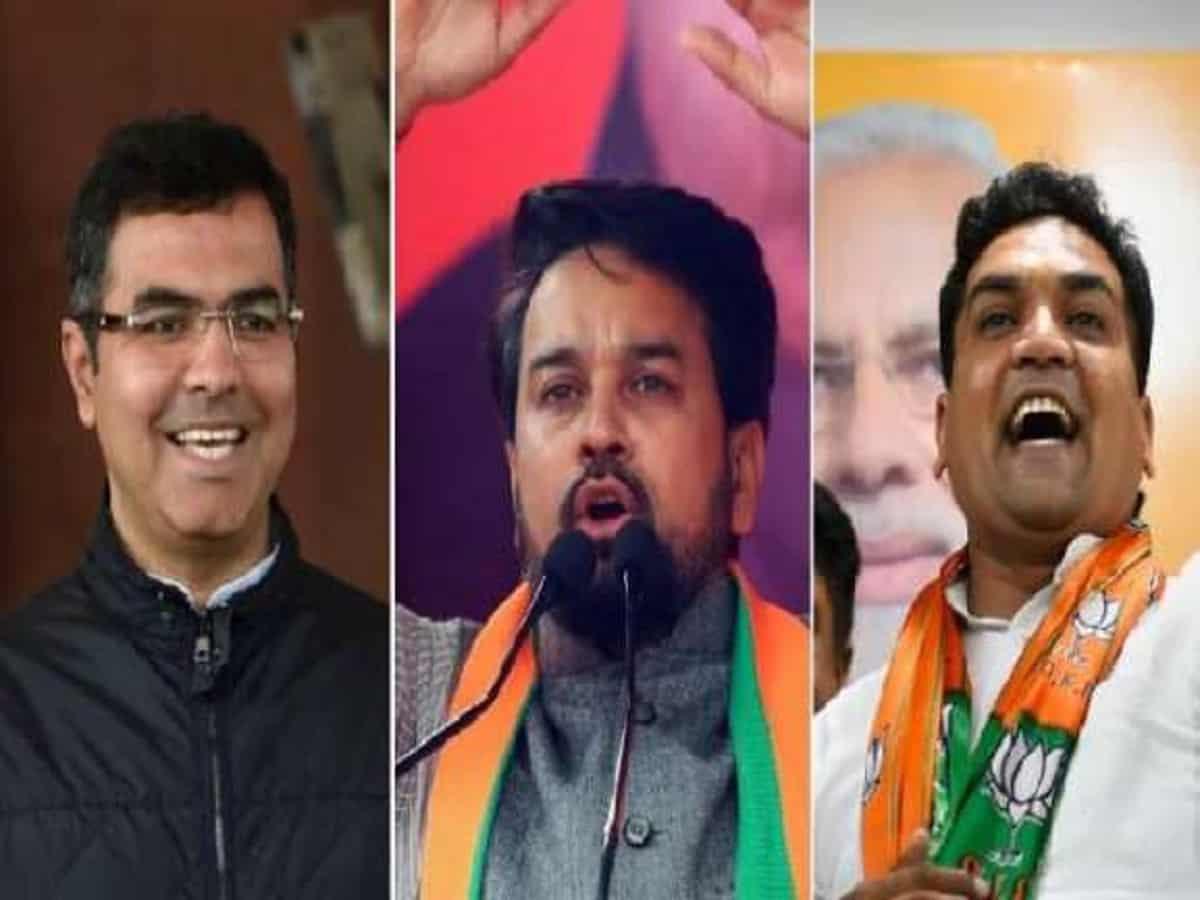 BJP leaders - Parvesh Verma, Anurag Thakur and Kapil Mishra.