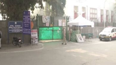 Photo of AAP workers deployed outside strongrooms to keep vigil on EVMs
