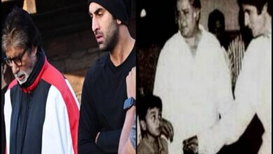 Photo of Bachchan praises Ranbir with then and now pictures