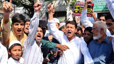 Photo of CAA: Protest held near Azizia Mosque in Hyderabad