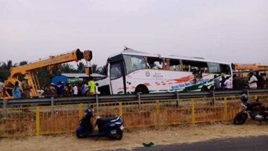 Photo of 19 die in bus-truck collision in Tamil Nadu