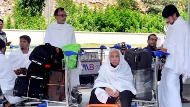 Photo of Umrah pilgrims, others prevented from boarding flight to Jeddah