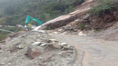 Photo of Landslide damages car, houses on Badrinath National Highway