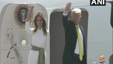 Photo of Trump, Melania leave for Agra to visit Taj Mahal