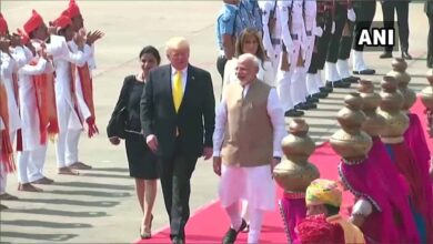 Photo of Trump, wife Melania land in Ahmedabad