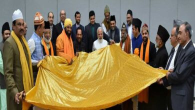 Photo of PM Modi hands over 'Chadar' for offering at Ajmer Sharif