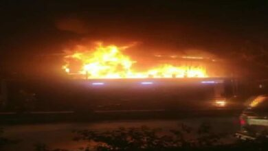 Photo of Seven cars charred in fire at Hyderabad-based service centre