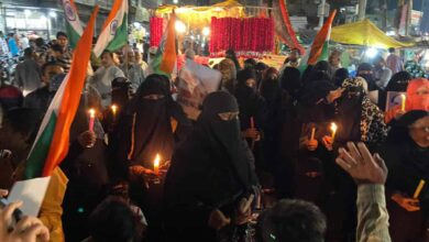 Photo of Flash protests in Hyderabad against Delhi violence
