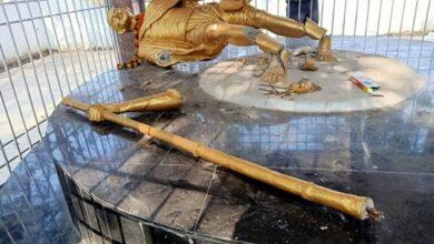 Photo of Mahatma Gandhi's statue found vandalised in Jharkhand