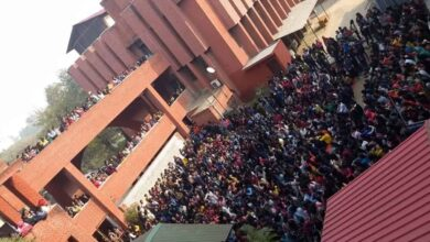 Photo of Gargi college: Molesters waved saffron flags, chants Jai Sri Ram
