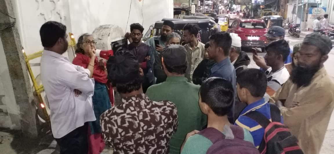 Hyderabad: Activists spread awareness against CAA-NRC-NPR