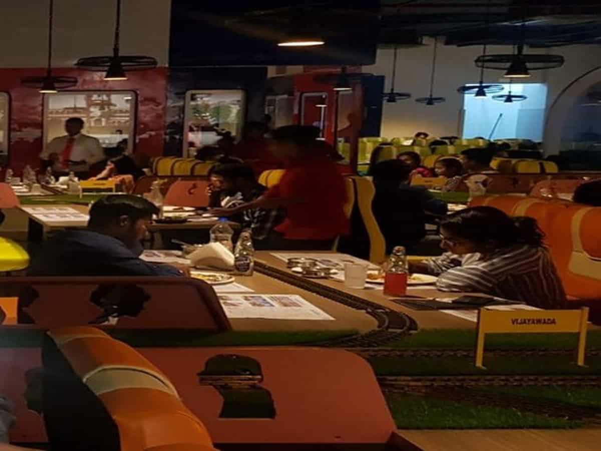 Train-theme based restaurant gaining popularity in Hyderabad