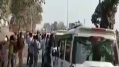 Photo of Kanhaiya Kumar's convoy attacked in Bihar