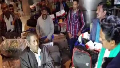 Photo of 16 labourers stranded in Iraq return to India