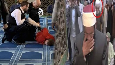 Photo of London mosque attack: Elderly muezzin saves Imam's life, injured