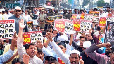 Protests against Northeast Delhi Violence in Mehdipatnam