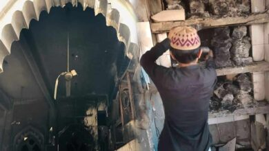 Photo of Mustafabad communal rage: Mosque burnt down, temple safe