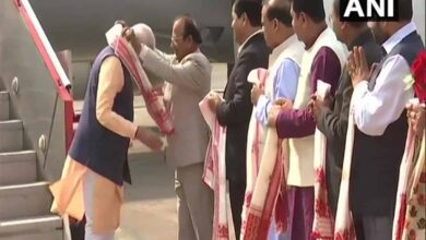 Photo of PM Modi arrives in Guwahati ahead of Kokrajhar rally