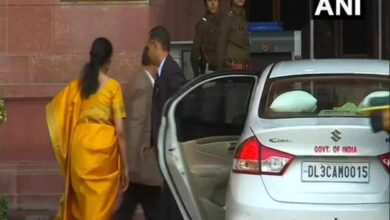Photo of Union Budget: Sitharaman arrives at Finance Ministry