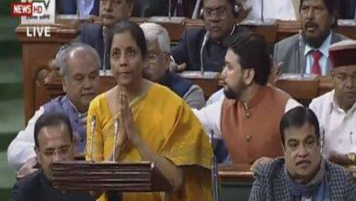 Photo of Sitharaman begins presenting Budget 2020-21 in Lok Sabha