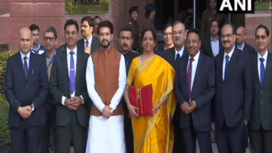 Photo of Sitharaman's goes bright yellow for budget presentation