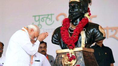 Photo of PM Modi pays tribute to Shivaji Maharaj on his birth anniversary