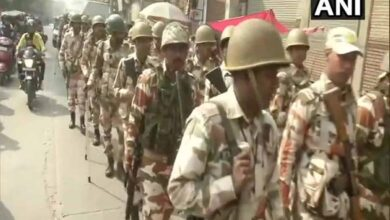 Photo of Delhi polls: Police and para-military forces conduct flag march