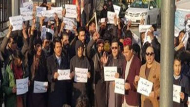 Photo of Afghans hold anti-Pak protest in Kabul, say leave Kashmir alone
