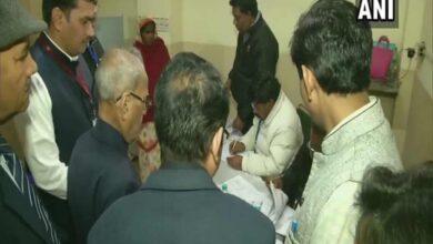 Photo of Former President Pranab Mukherjee exercises his franchise